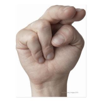 Langue des signes américaine 16 carte postale