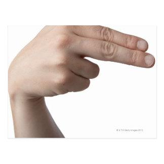 Langue des signes américaine 4 carte postale