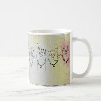 """Langue des signes """"sourire """" mug"""