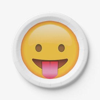 Langue - Emoji Assiettes En Papier