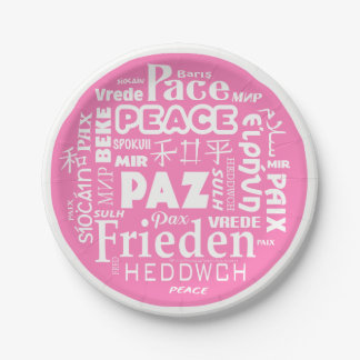 langues de paix de plaque à papier de 7 pouces assiettes en papier