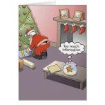 Lanière de Père Noël Carte De Vœux