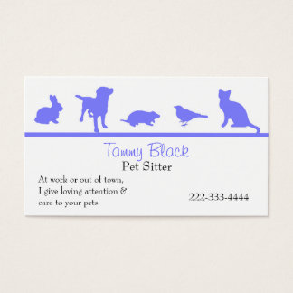 L'animal bleu silhouette le carte de visite de
