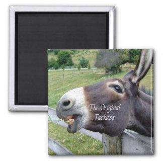 L'animal de ferme drôle de mule d'âne d'âne origin magnet carré