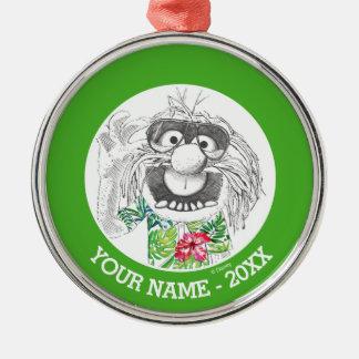 L'animal des Muppets | dans une chemise hawaïenne Ornement Rond Argenté