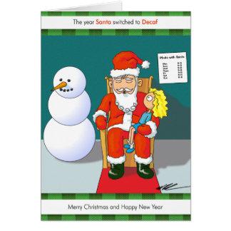 L'année Père Noël commuté au Decaf Cartes