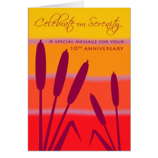 L'anniversaire d'anniversaire de 12 étapes 10 ans cartes