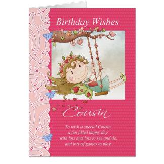 l'anniversaire de cousin souhaite la carte de