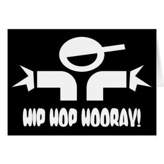 L'anniversaire de hip hop souhaite la carte