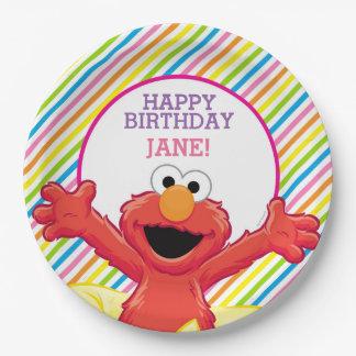 L'anniversaire de la fille d'Elmo Assiette En Papier 22,8 Cm