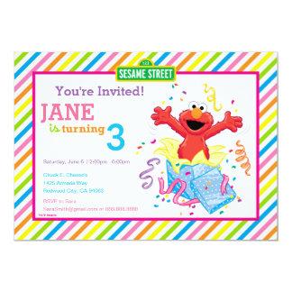 L'anniversaire de la fille d'Elmo Carton D'invitation 12,7 Cm X 17,78 Cm