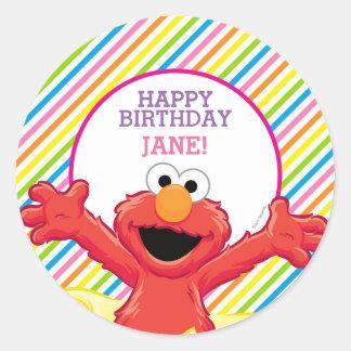 L'anniversaire de la fille d'Elmo Sticker Rond