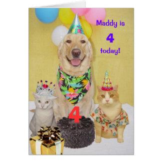 L'anniversaire de l'enfant personnalisable d'année carte de vœux