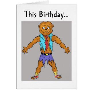 L'anniversaire de Wolfman souhaite la carte