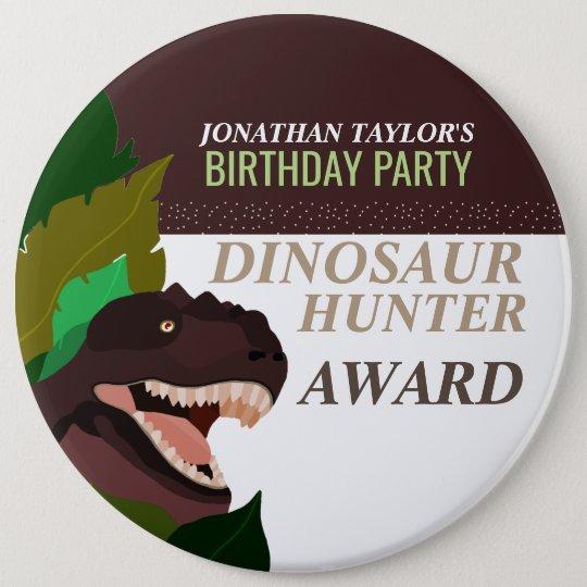 L'anniversaire des enfants de partie de dinosaure badges
