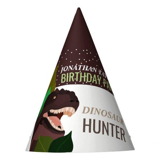 L'anniversaire des enfants de partie de dinosaure chapeaux de fètes