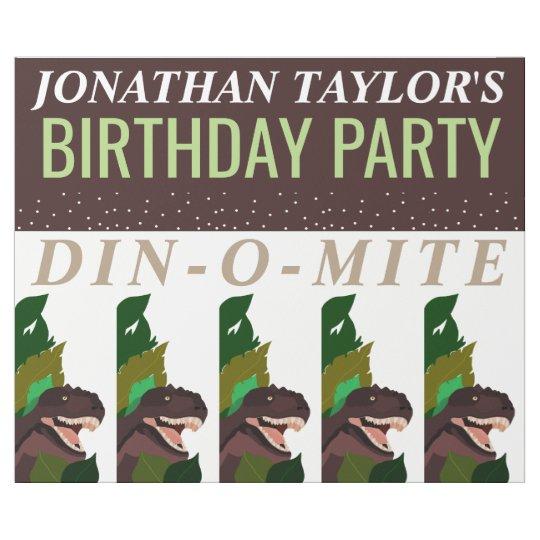 L'anniversaire des enfants de partie de dinosaure papiers cadeaux