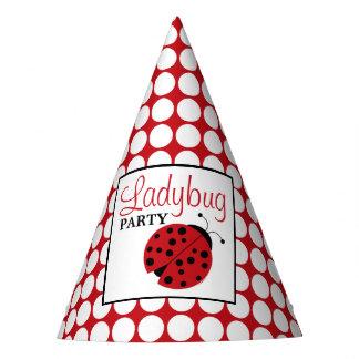 L'anniversaire des enfants rouges de coccinelle chapeaux de fètes