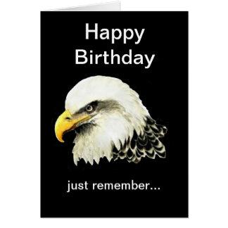 L'anniversaire drôle, chauve est bel Eagle chauve Carte De Vœux