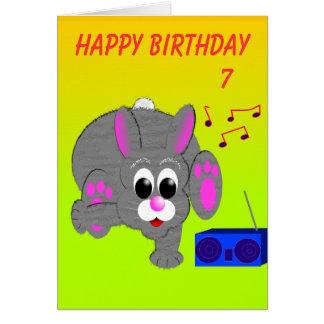 L'anniversaire du lapin de smurf cartes