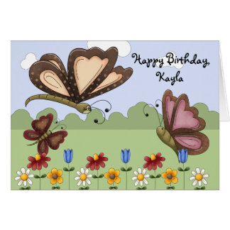 L'anniversaire folklorique mignon d'enfant de carte de vœux