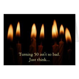 L'Anniversaire-Rotation de 50 n'est pas aussi Carte De Vœux