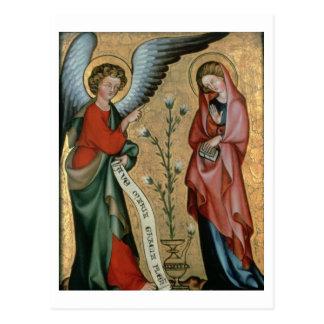 L'annonce, c.1330 (huile sur le panneau) cartes postales