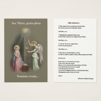 L'annonce de prière de l'Angelus de la carte