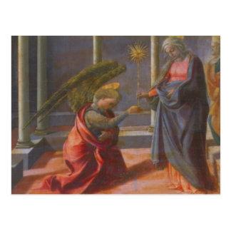 L'annonce (predella du Barbadori Altarp Carte Postale