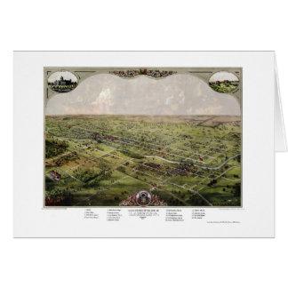 Lansing, carte panoramique de MI - 1866