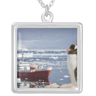 L'Antarctique, crique de Neko (port). Pingouin de Pendentif Carré