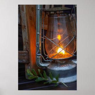 Lanterne au camp de plaines, parc national de posters