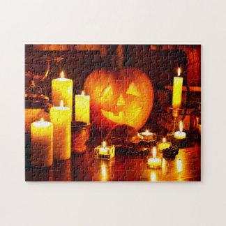 Lanterne de citrouille de Halloween Puzzle