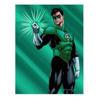 Lanterne et anneau verts carte postale