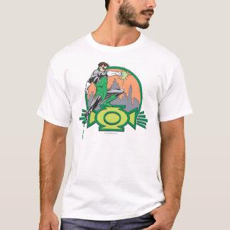 Lanterne et paysage urbain verts t-shirt