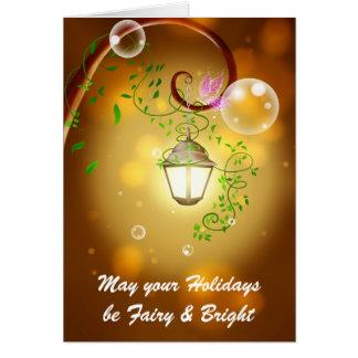 Lanterne féerique carte de vœux