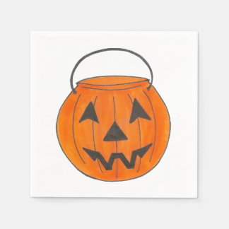 Lanterne Halloween d'o de Jack de citrouille de Serviette Jetable