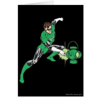 Lanterne verte avec la lanterne 2 carte de vœux