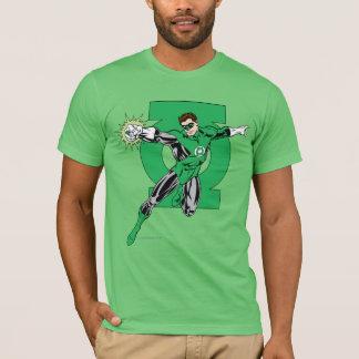 Lanterne verte avec l'arrière - plan de logo t-shirt