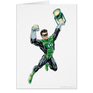 Lanterne verte - comique, avec la lanterne carte de vœux