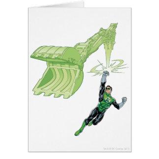 Lanterne verte - comique, avec la machine carte de vœux