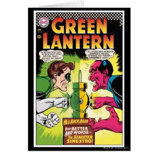 Lanterne verte contre Sinestro Carte De Vœux