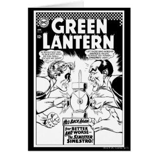 Lanterne verte contre Sinestro, noir et blanc Carte De Vœux