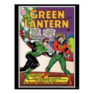 Lanterne verte dans l'anneau carte postale