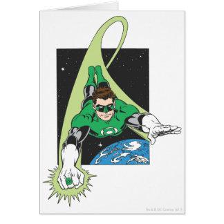 Lanterne verte dans l'espace carte de vœux