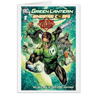 Lanterne verte - dossiers et couverture secrets carte de vœux