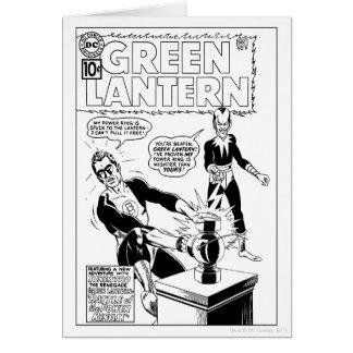 Lanterne verte et couverture de Sinestro, noire et Carte De Vœux