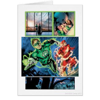 Lanterne verte et le panneau instantané carte de vœux