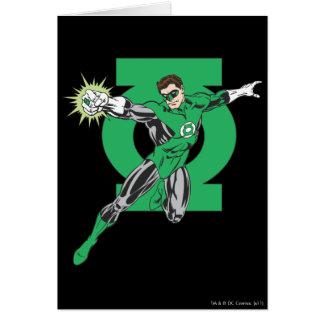 Lanterne verte et symbole carte de vœux
