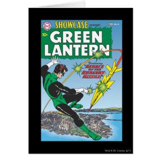 Lanterne verte - missile d'emballement carte de vœux